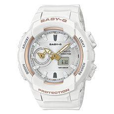 【CASIO 卡西歐】Baby-G 耐衝擊構造 世界時間 計時 防水100M 電子指針 橡膠手錶 白色 42mm(BGA-230SA-7A)