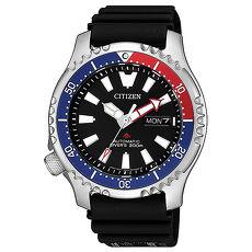 【CITIZEN 星辰】PROMASTER限量機械強化潛水運動錶-藍紅(NY0088-11E)