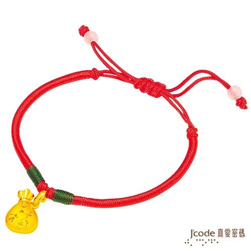 J'code真愛密碼 聚福袋黃金/中國繩手鍊-小(預計出貨日:付款完成後3個工作天)
