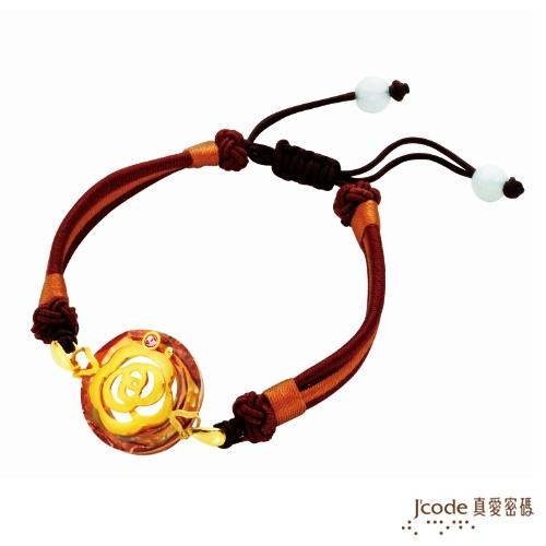 【J'code真愛密碼】 經典茶花 純金中國繩手鍊