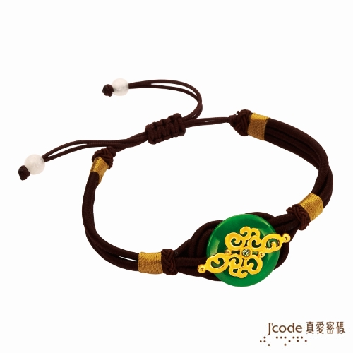 【J'code真愛密碼】 隨玉而安 純金中國繩手鍊