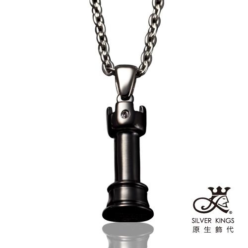 原生飾代SilverKings 凱旋 316L白鋼墜鍊(黑)