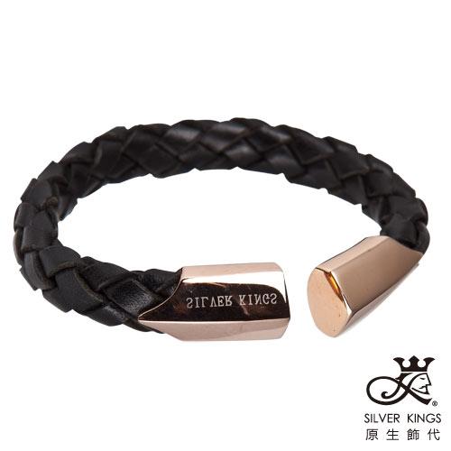 原生飾代SilverKings 距離 316L白鋼皮手環(金)小(約5.3cm)
