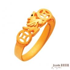 J'code真愛密碼 一路富貴貔貅黃金戒指-小(預購)