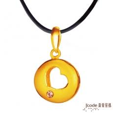 J'code真愛密碼 洞悉愛情黃金墜子 送項鍊(預購)