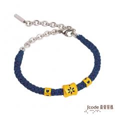 J'code真愛密碼 煙花黃金手鍊-藍