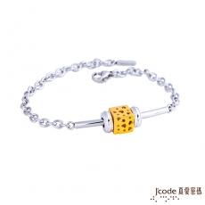J'code真愛密碼 愛情世界黃金/純銀/白鋼手鍊