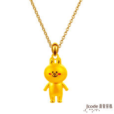 【J'code真愛密碼】 LINE兔兔好幸福黃金項鍊(立體硬金款)