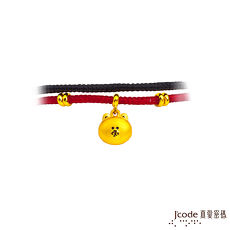 【J'code真愛密碼】 LINE熊大害羞了黃金紅黑繩手鍊