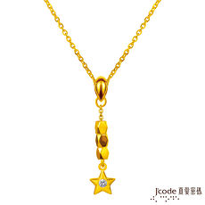 J'code真愛密碼 許願星結晶黃金項鍊