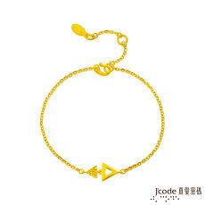 J'code真愛密碼 獨立黃金手鍊
