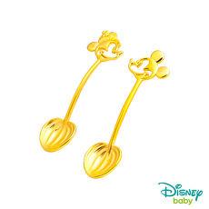 Disney迪士尼系列金飾 黃金湯匙木盒套組-米奇+美妮款