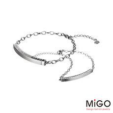 MiGO 心動施華洛世奇美鑽/天然寶石/白鋼成對手環