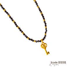 J'code真愛密碼 愛情鑰匙黃金/尖晶石項鍊(預計出貨日:付款完成後7個工作天)