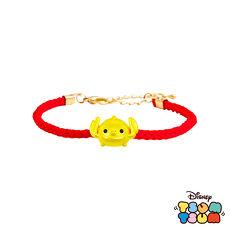 迪士尼TSUM TSUM系列金飾 黃金編織手鍊-史迪奇款