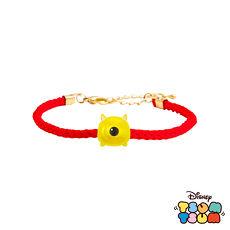 迪士尼TSUM TSUM系列金飾 黃金編織手鍊-大眼怪款
