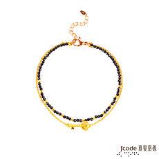 J'code真愛密碼 愛情鑰匙黃金/尖晶石手鍊-雙鍊款
