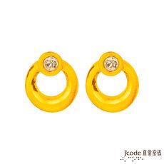 【預購】J'code真愛密碼 簡約黃金/水晶耳環