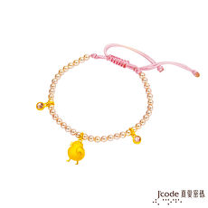 J'code真愛密碼 微笑小雞黃金/水晶珍珠手鍊