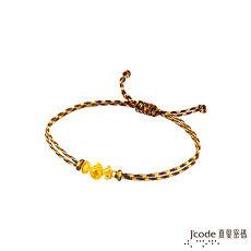 【預購】J'code真愛密碼 福臨招財黃金/水晶五色編織繩手鍊