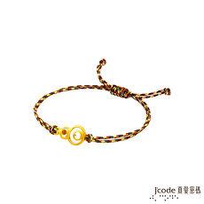 【預購】J'code真愛密碼 福祿招財黃金/水晶五色編織繩手鍊
