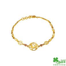【預購】幸運草 好運自來黃金/水晶手鍊