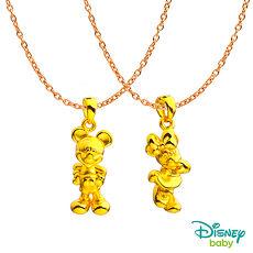 【預購】Disney迪士尼系列金飾 黃金墜子-可愛米奇+可愛美妮款 送項鍊