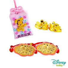 Disney迪士尼系列金飾 彌月金飾御守套組禮盒-聰明美妮款 0.48錢