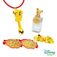Disney迪士尼系列金飾 彌月金飾印章套組木盒-榜首米奇款-米奇造型印章 0.95錢