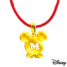 Disney迪士尼系列金飾 黃金墜子-紳士米奇款 送項鍊