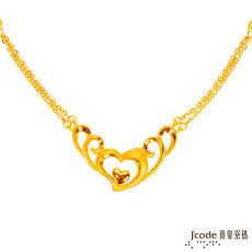 【預購】J'code真愛密碼 心相許黃金項鍊