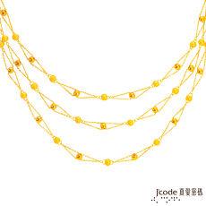 【預購】J'code真愛密碼 幸福點滴黃金項鍊