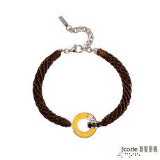Jcode真愛密碼 永恆承諾黃金/白鋼編織男手鍊