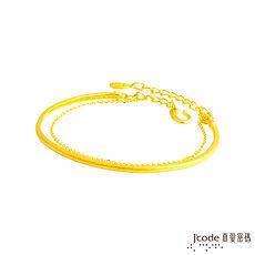 【預購】J'code真愛密碼 情緣黃金手環-霧面加鍊