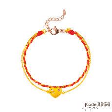 【預購】Jcode真愛密碼 幸福愛黃金編織手鍊-雙鍊款