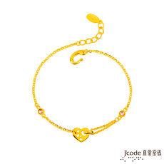 【預購】Jcode真愛密碼 滿心情意黃金/水晶手鍊