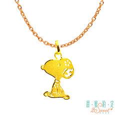 【預購】甜蜜約定2SWEET 花戀Snoopy黃金墜子 送項鍊