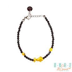 【預購】甜蜜約定2SWEET 與你相伴Snoopy黃金/黑尖晶石手鍊