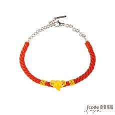 【預購】Jcode真愛密碼 致富象黃金編織手鍊