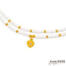 【預購】Jcode真愛密碼 珍愛你黃金/水晶天然珍珠手鍊