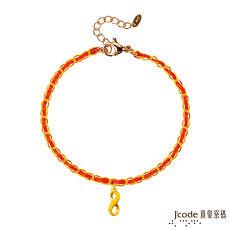 【預購】Jcode真愛密碼 分享愛黃金小香編織手鍊