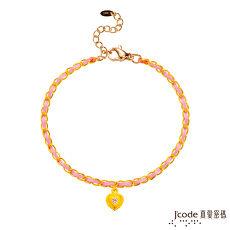 【預購】Jcode真愛密碼 真愛你黃金小香編織手鍊