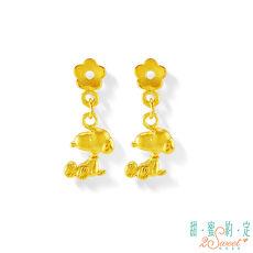 【預購】甜蜜約定2SWEET 花漾年華Snoopy黃金耳環