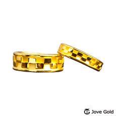 【預購】Jove Gold 漾金飾 簡單愛黃金成對戒指