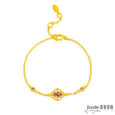 【預購】Jcode真愛密碼 優雅光彩黃金/水晶手鍊