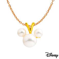 【預購】Disney迪士尼系列金飾 黃金墜子-珍珠米奇款 送項鍊