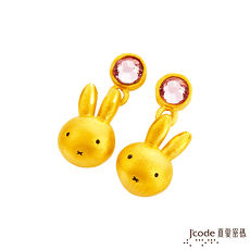 【預購】Jcode真愛密碼 水晶米飛黃金/水晶耳環