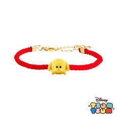 【預購】Disney迪士尼TSUM TSUM系列金飾 黃金編織手鍊-布魯托款
