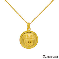 【預購】Disney迪士尼系列金飾 黃金墜子-圓圓米妮款 送項鍊