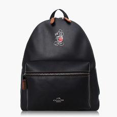 【COACH旅行必備】皮革 / 背包 / 後背包(米奇限定款)_黑色